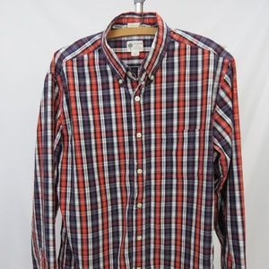 J Crew Washed Tartan Tailored Fit Men's LS Shirt